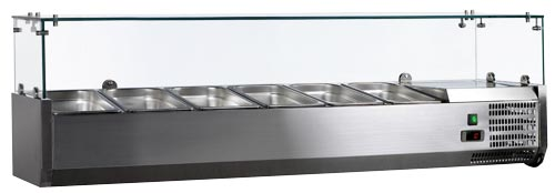 Omcan RS-CN-0006-P featured products|refrigeration > refrigerated prep tables > refrigerated topping rails with sneeze guard