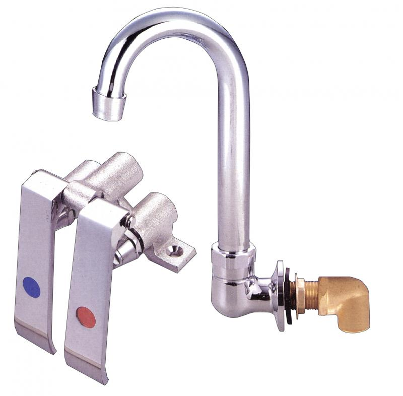 Omcan 23332 hand sinks with knee valves and accessories