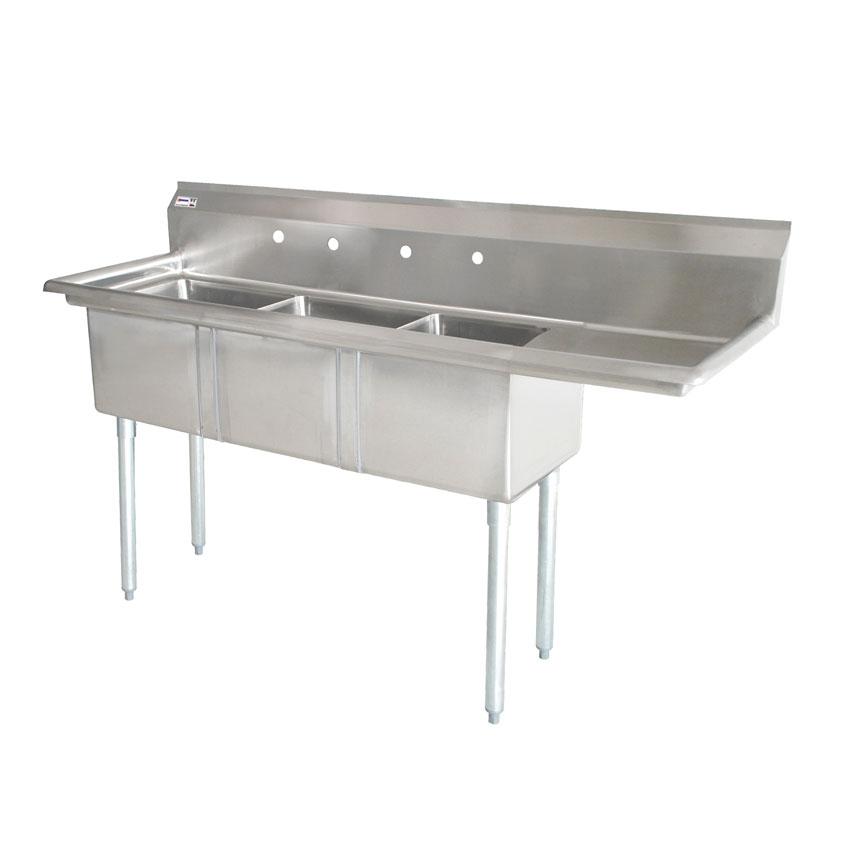 Omcan 25260 tables and sinks > sinks > pot sinks > three tub pot sinks