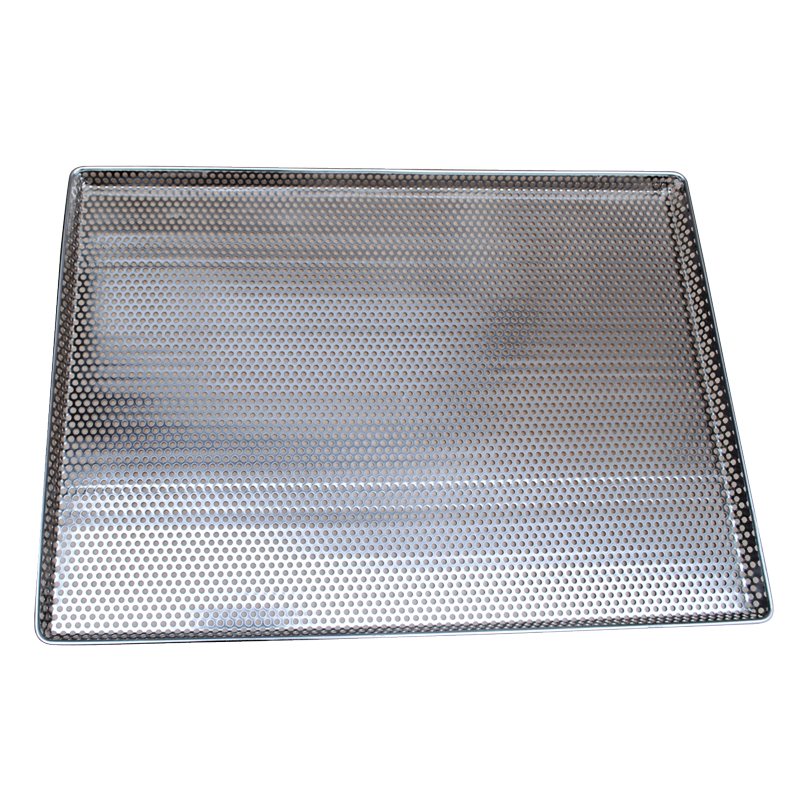 Omcan 44577 smallwares > restaurant essential > trays > perforated stainless steel tray|smallwares > restaurant essential|smallwares > restaurant essential > trays