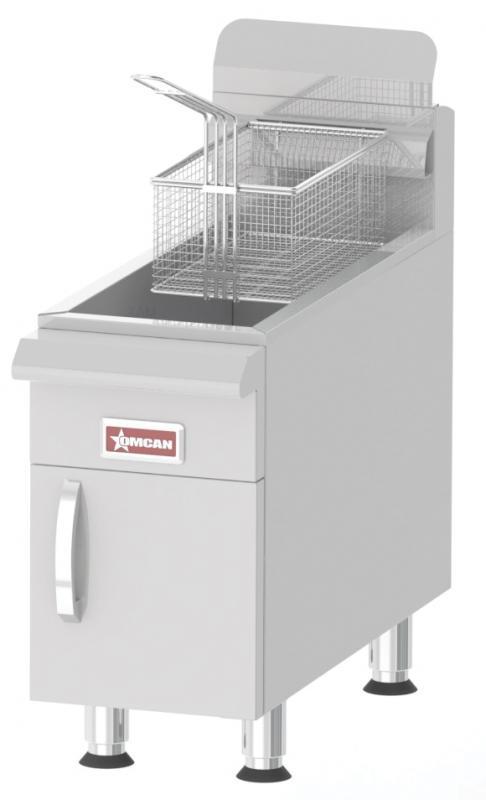Omcan CECNURCF15LP food equipment > cooking equipment > countertop gas fryers