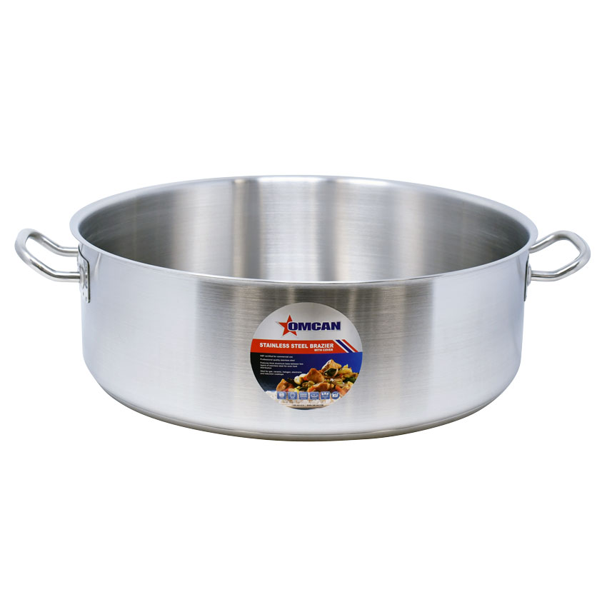 Omcan 80429 smallwares > professional cookware > brazier pans > stainless steel brazier pans