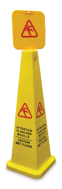 Omcan 24417 maintenance and safety > cleaning products > caution wet floor signs