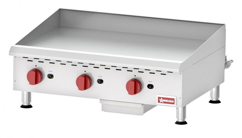 Omcan CE-CN-G36M countertop griddles with manual control