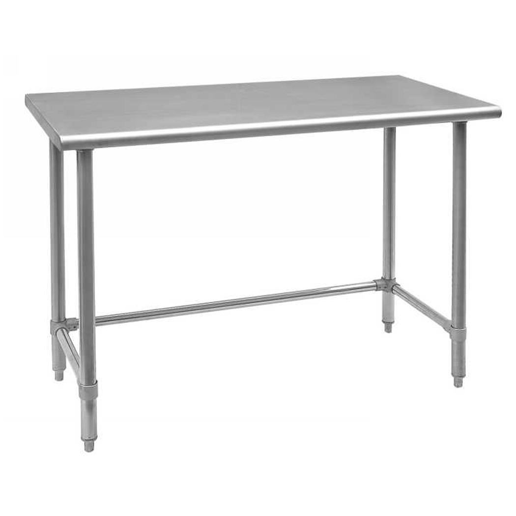 Omcan 28634 tables and sinks > tables > worktables with leg braces and open base