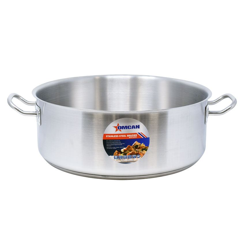 Omcan 80428 smallwares > professional cookware > brazier pans > stainless steel brazier pans