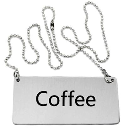 Omcan 80134 customer convenience > labels and signs > beverage chain signs
