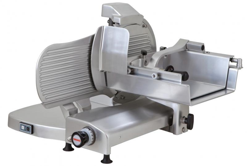 Omcan MS-IT-0370-H s-series horizontal gear-driven meat slicers