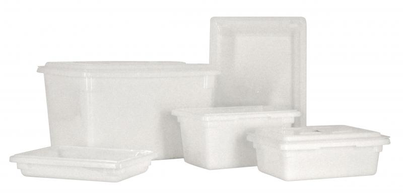Omcan 85131 handling and storage > food storage containers > polypropylene rectangle food storage containers and covers