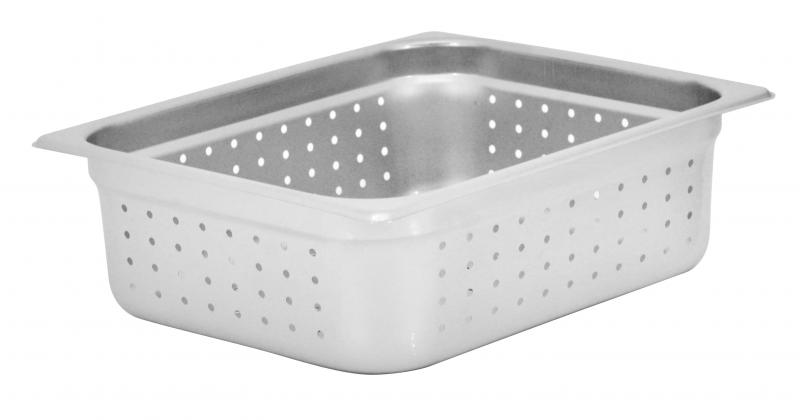 Omcan 85204 smallwares > kitchen essential > stainless steel steam table pans > perforated steam table pan|smallwares > kitchen essential > stainless steel steam table pans