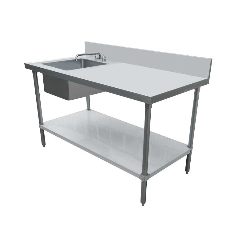 Omcan 44301 all stainless steel tables with sinks