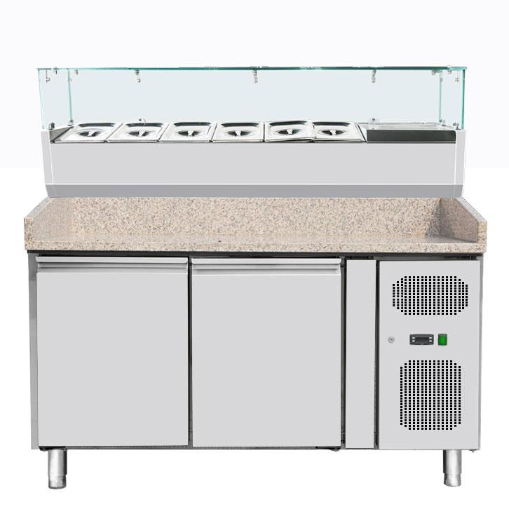 Omcan PT-CN-0390 refrigeration > refrigerated prep tables > refrigerated pizza prep tables