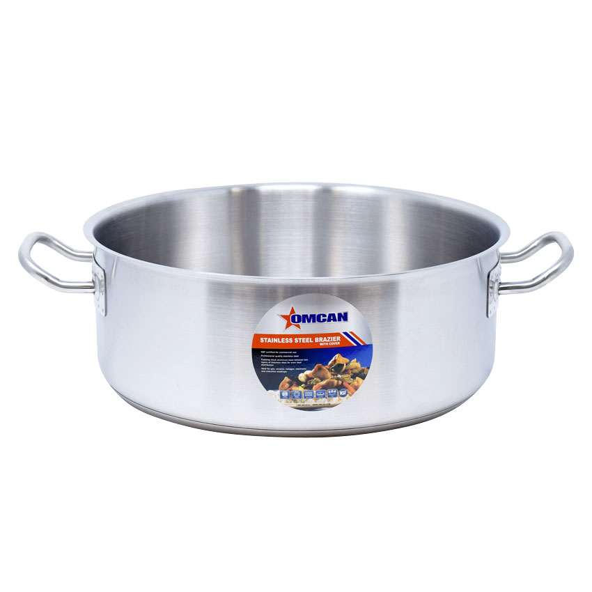 Omcan 80427 smallwares > professional cookware > brazier pans > stainless steel brazier pans