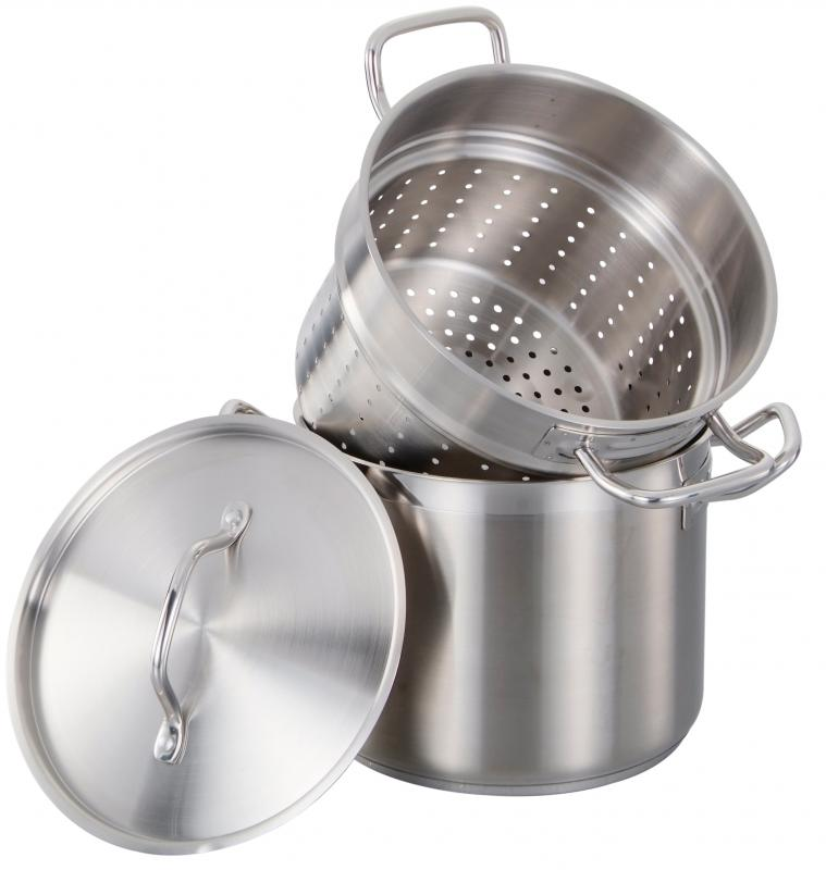 Omcan 80242 smallwares > professional cookware > steamers and pasta cookers > stainless steel steamers / pasta cookers