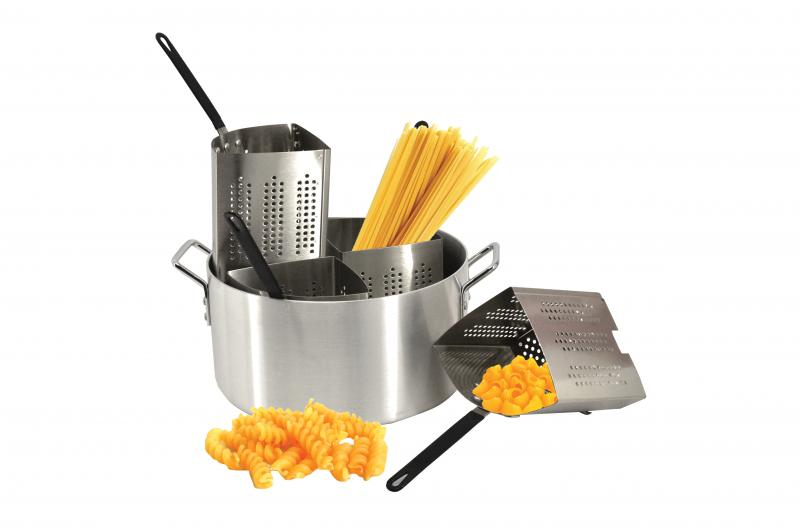 Omcan 40515 smallwares > professional cookware > steamers and pasta cookers > aluminum pasta cooker