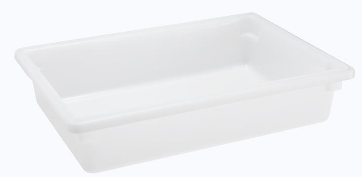 Omcan 85129 handling and storage > food storage containers > polypropylene rectangle food storage containers and covers
