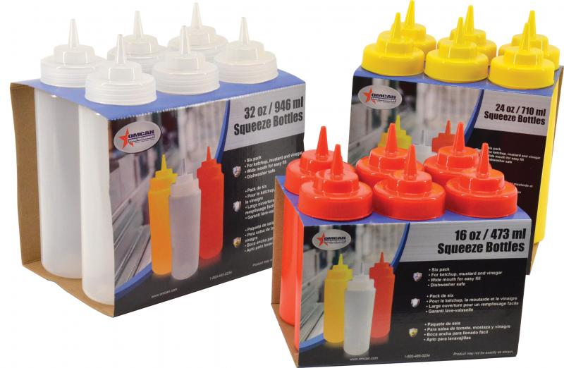 Omcan 40476 smallwares > dining solutions > condiment squeeze bottles