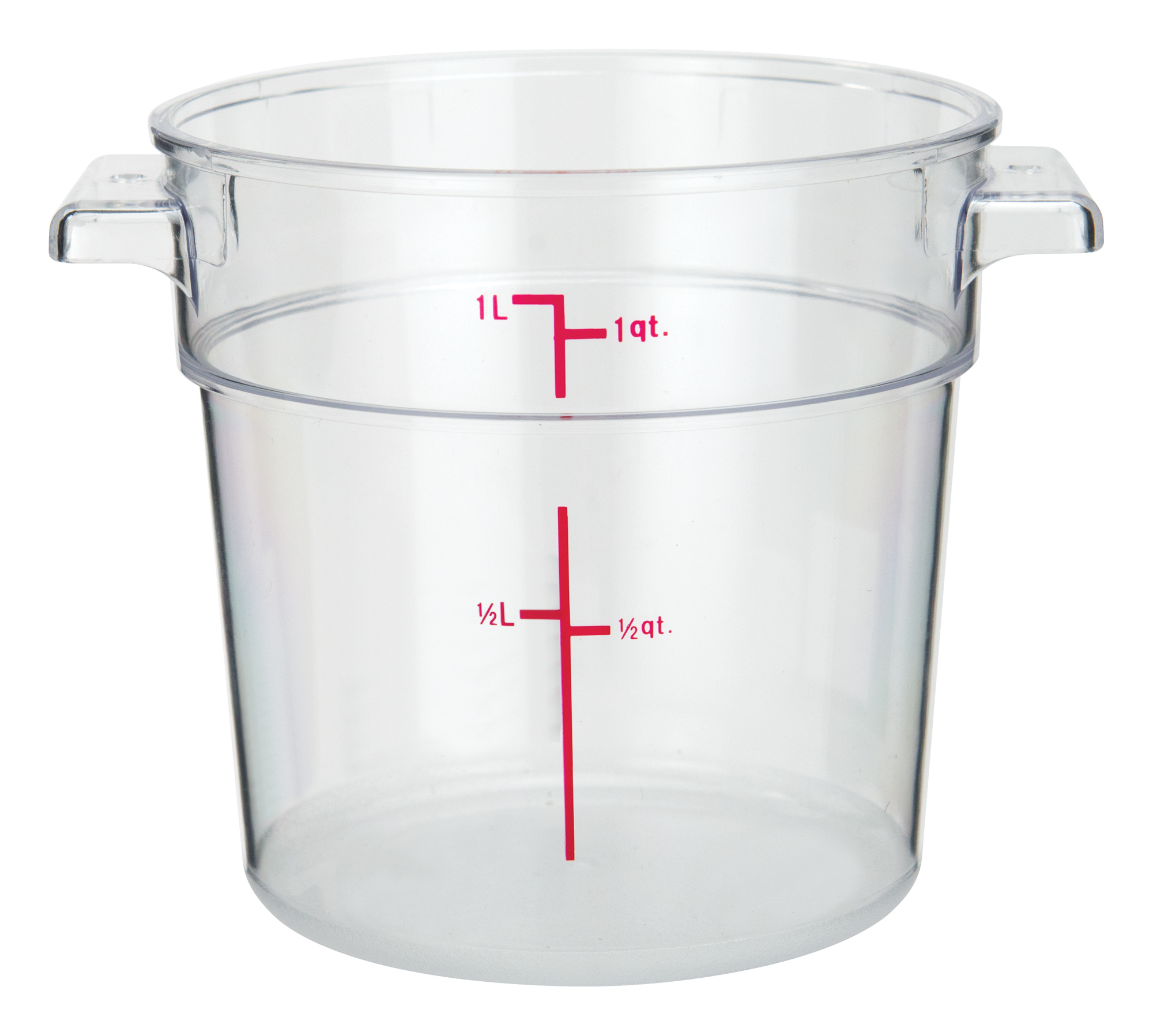 Winco PCRC-1 round food storage containers