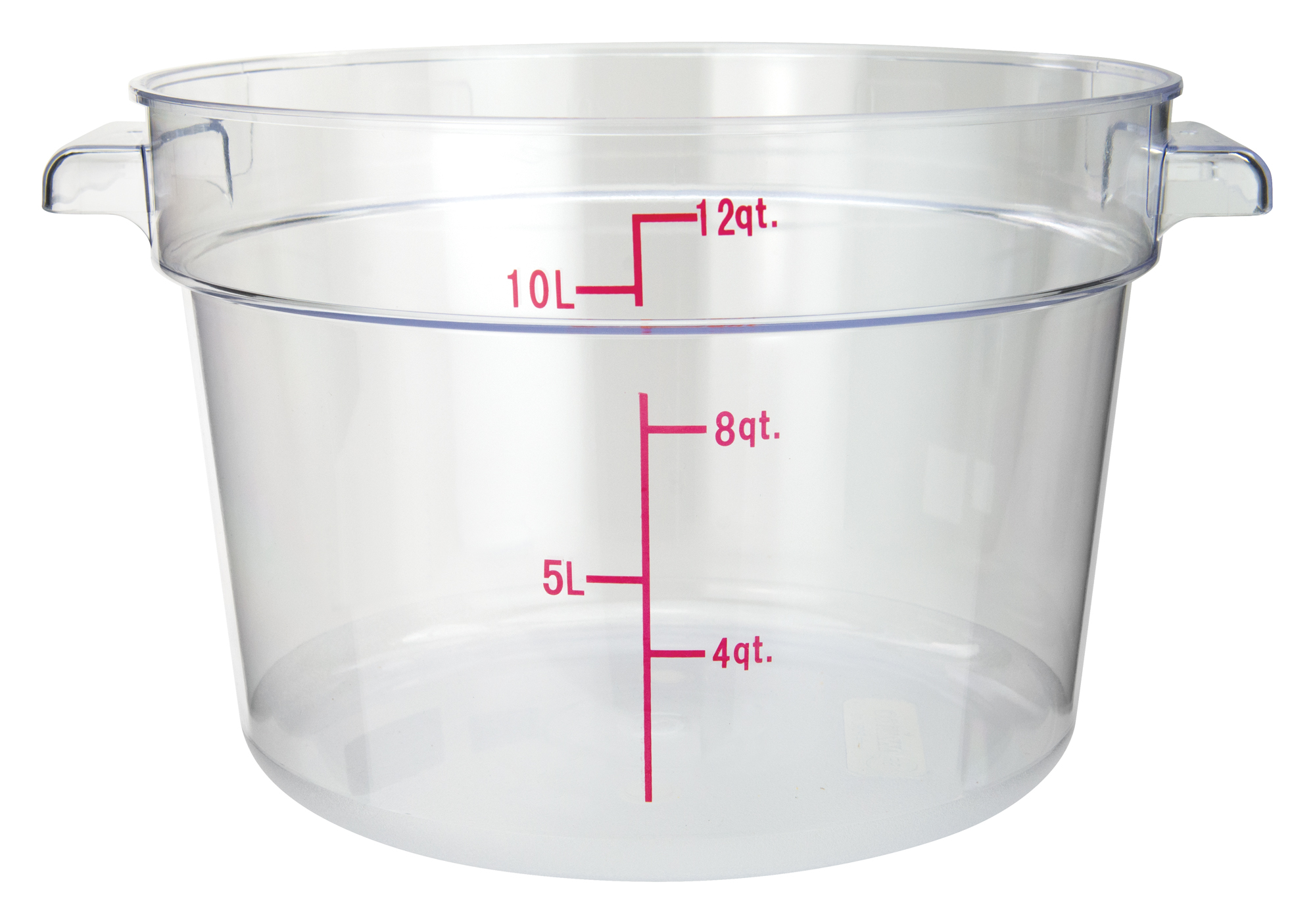 Winco PCRC-12 round food storage containers