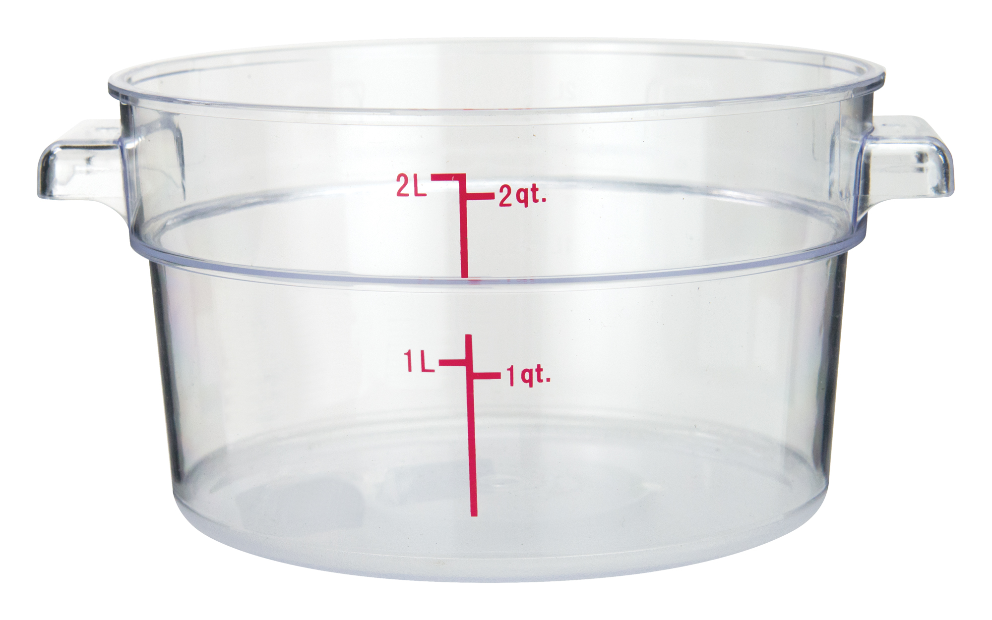 Winco PCRC-2 round food storage containers