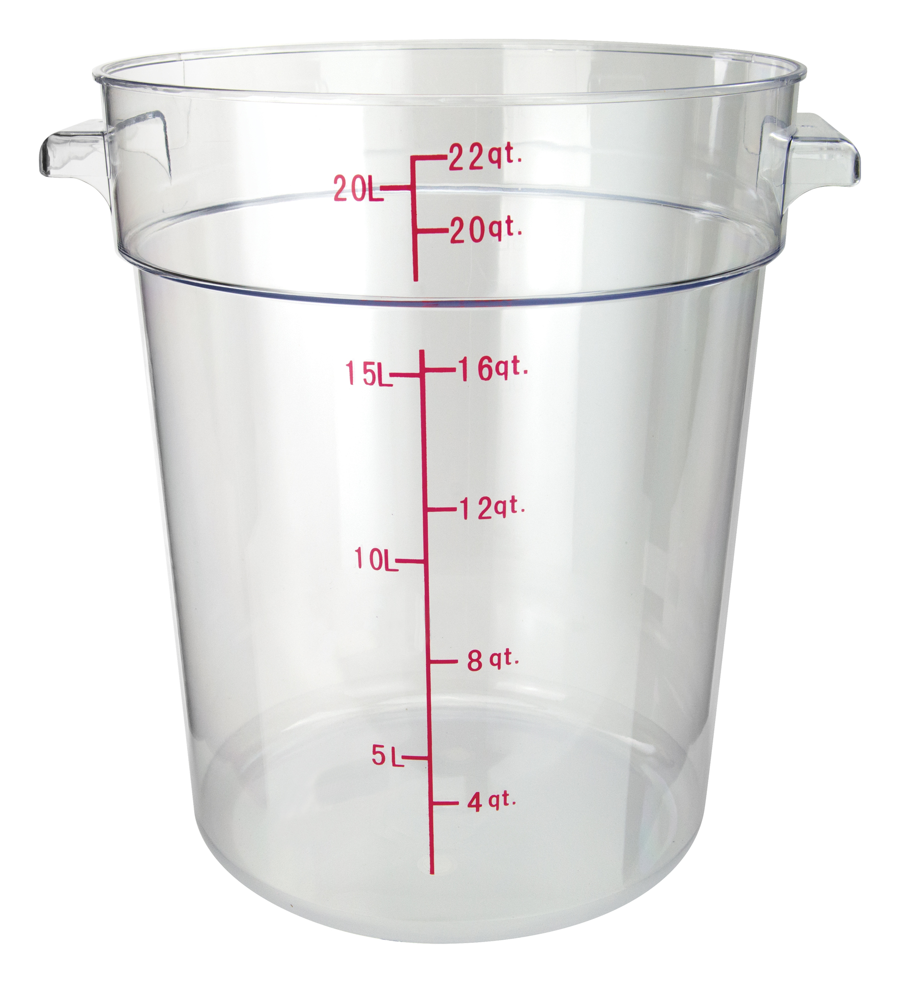 Winco PCRC-22 round food storage containers