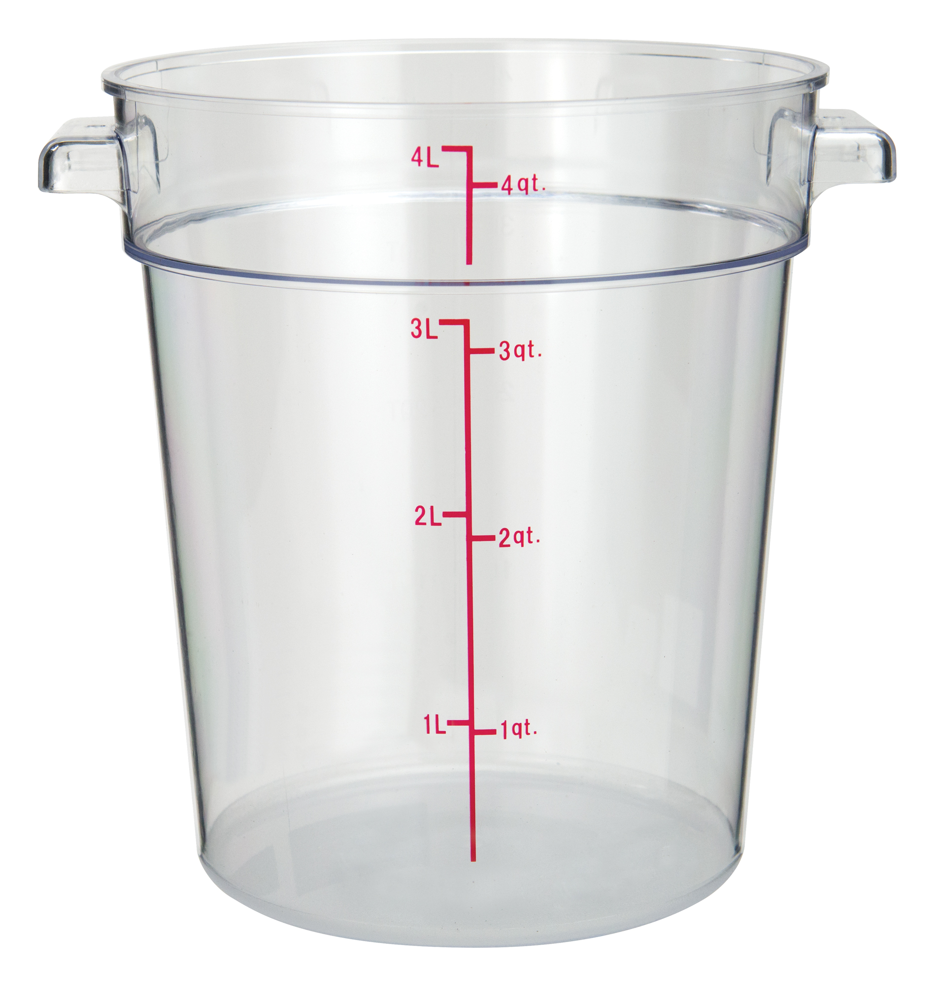Winco PCRC-4 round food storage containers