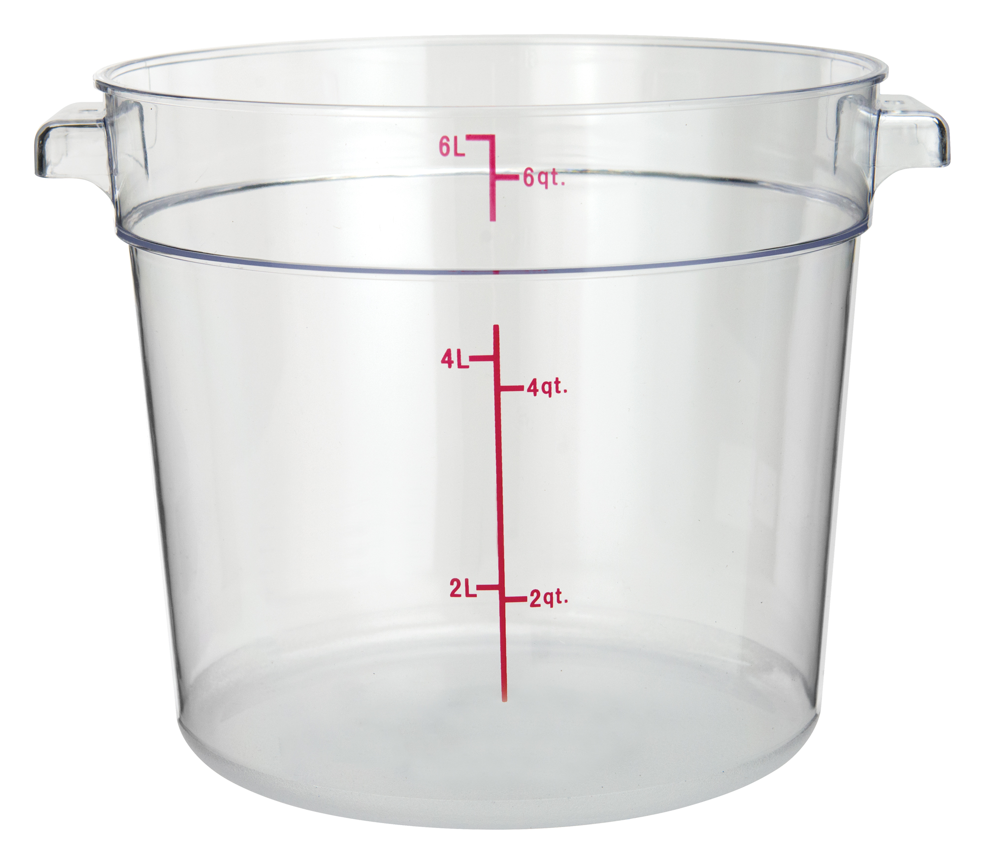 Winco PCRC-6 round food storage containers