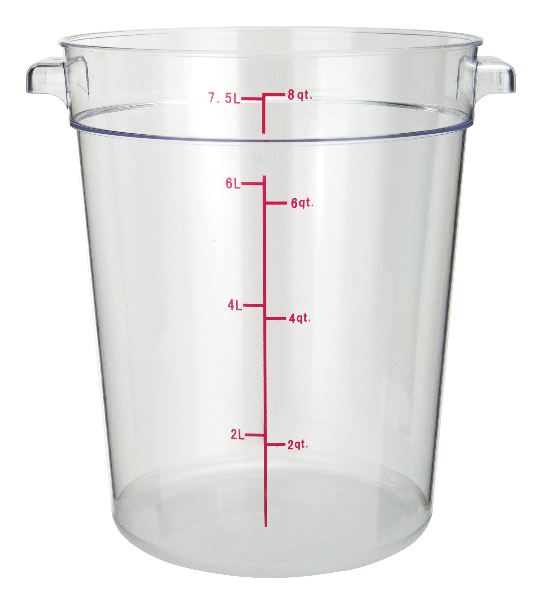 Winco PCRC-8 round food storage containers