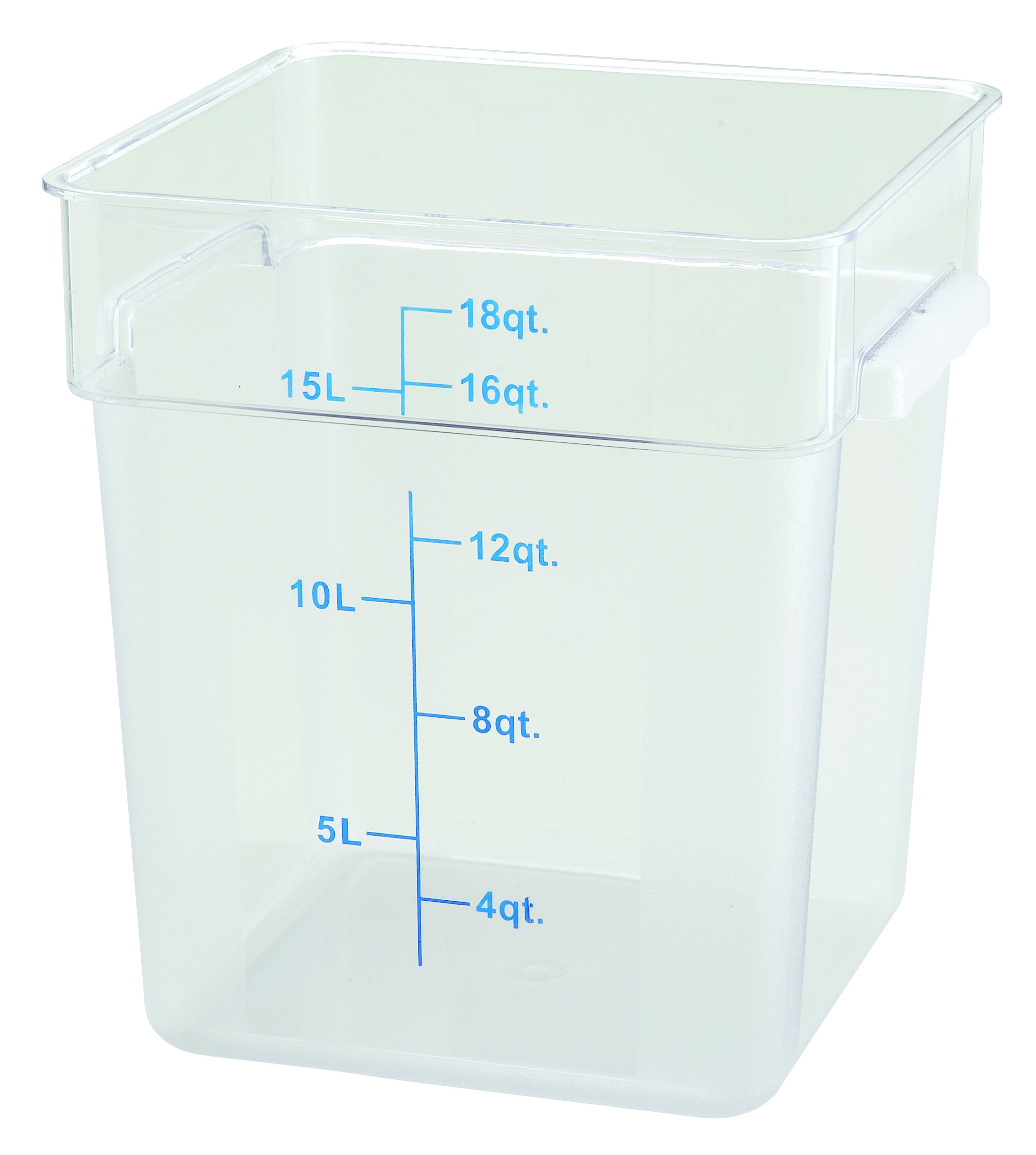 Winco PCSC-18C square food storage containers
