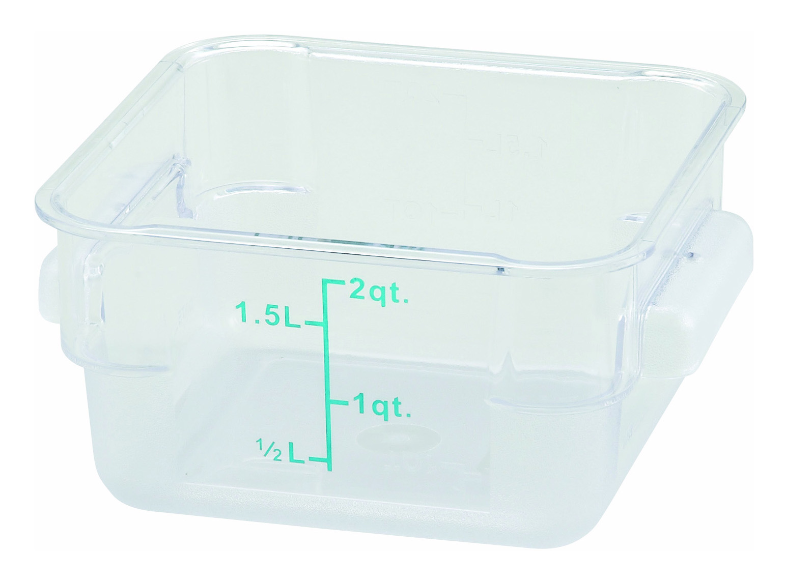 Winco PCSC-2C square food storage containers