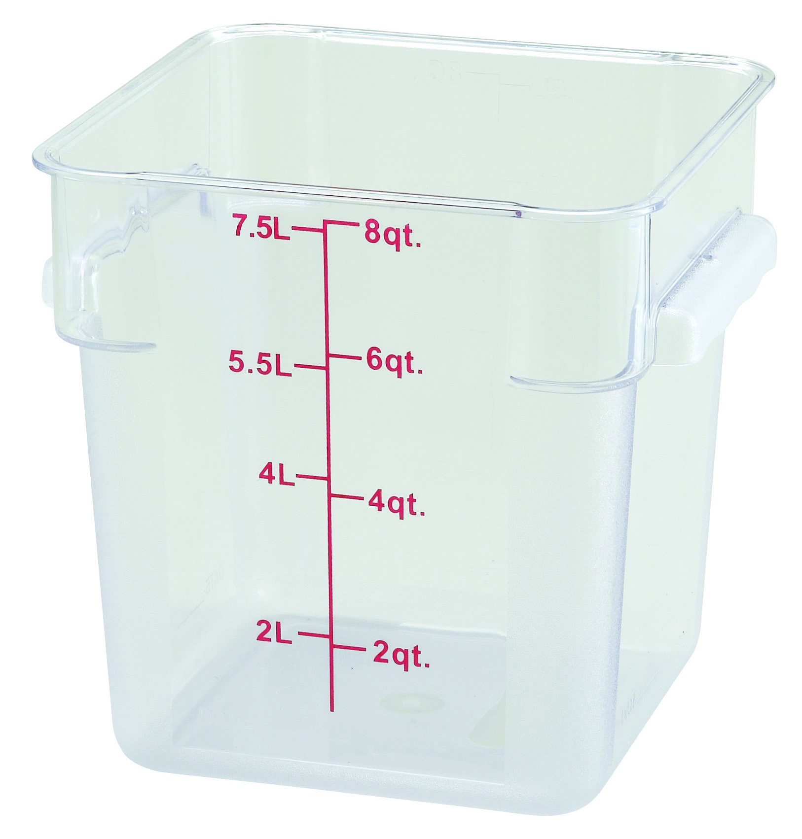 Winco PCSC-8C square food storage containers