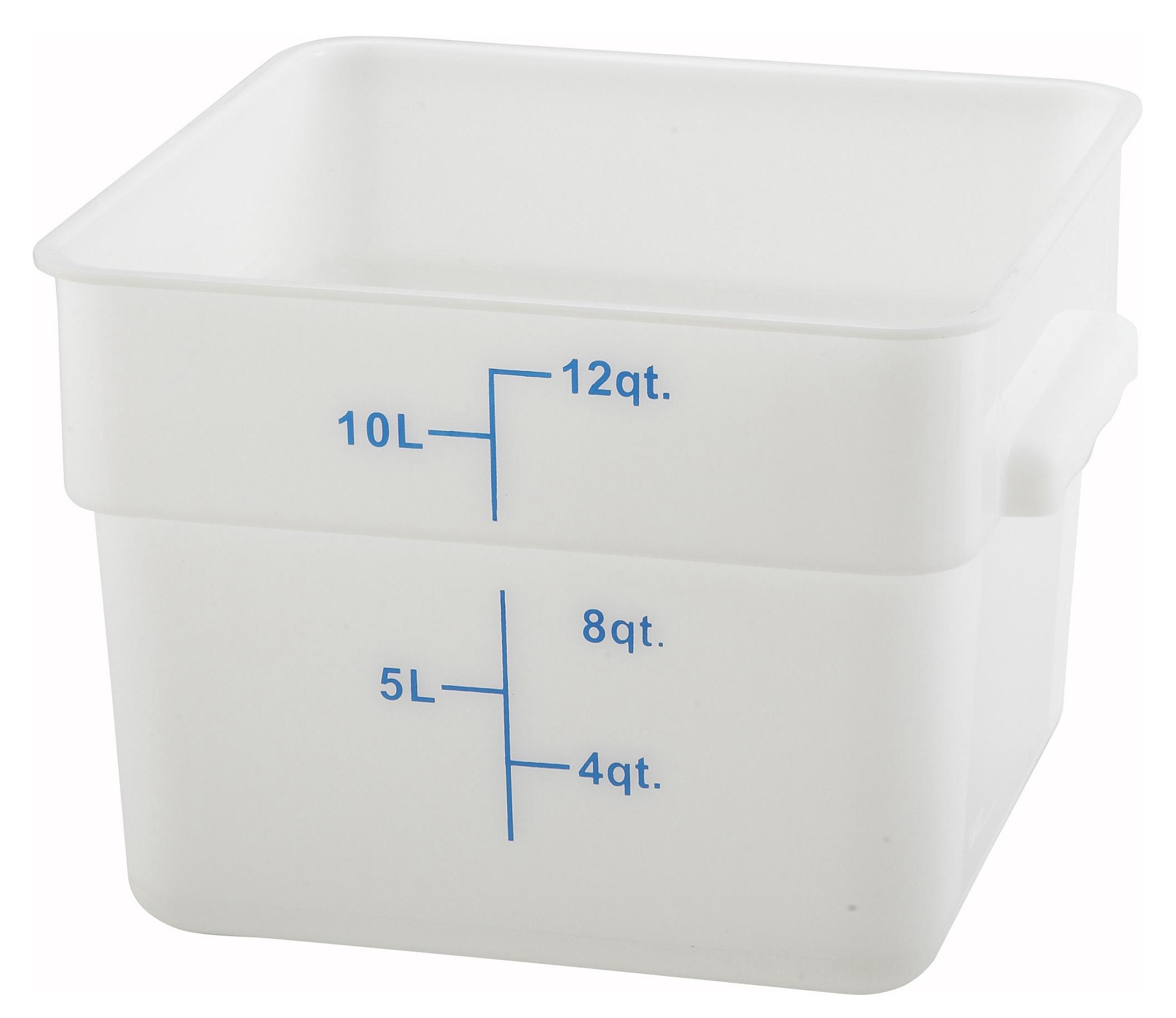 Winco PESC-12 square food storage containers