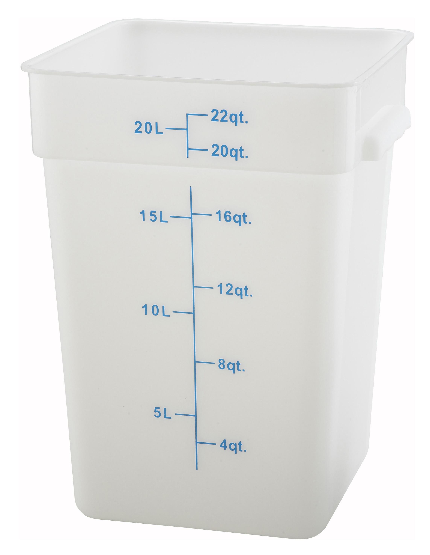 Winco PESC-22 square food storage containers