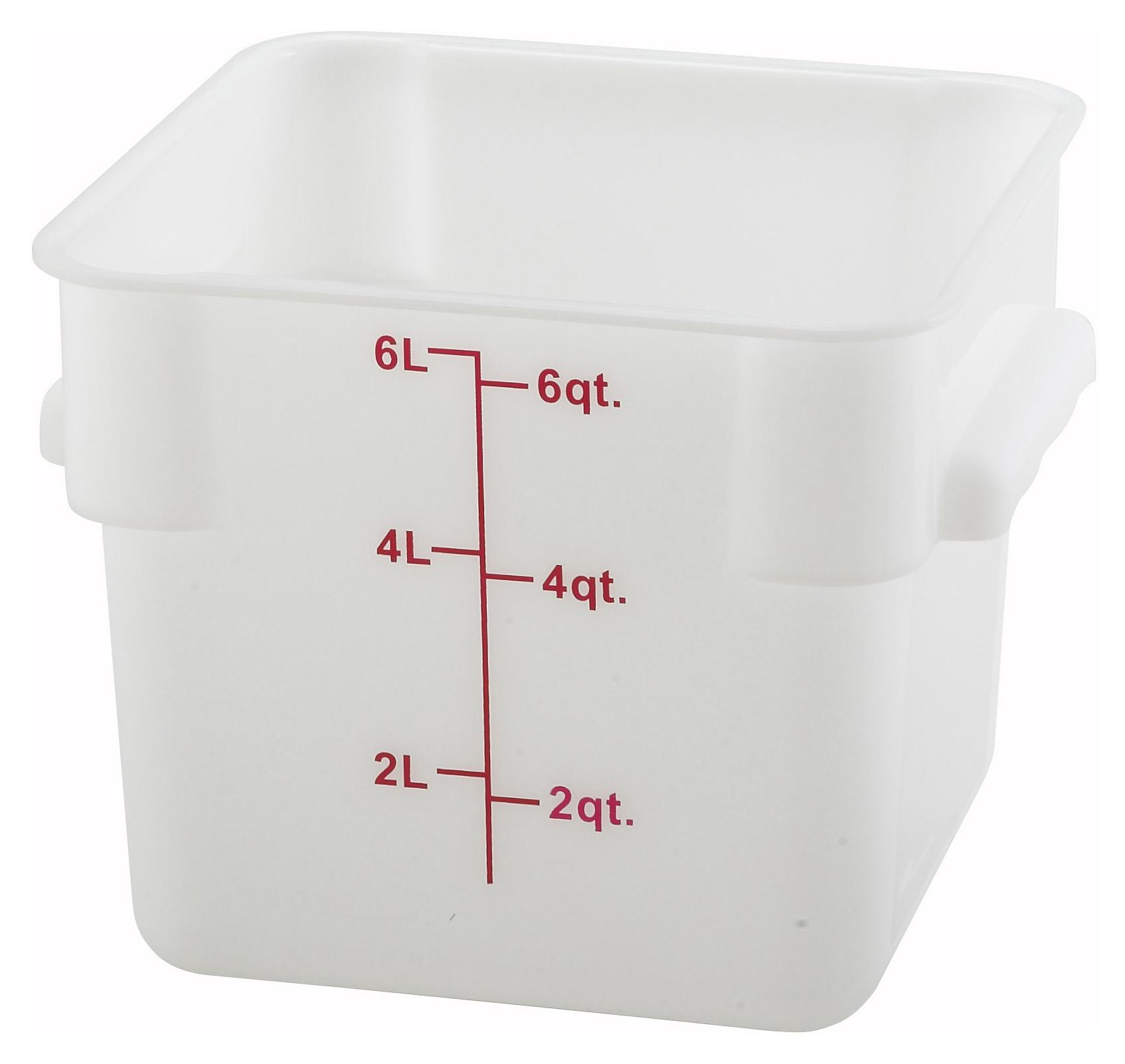 Winco PESC-6 square food storage containers