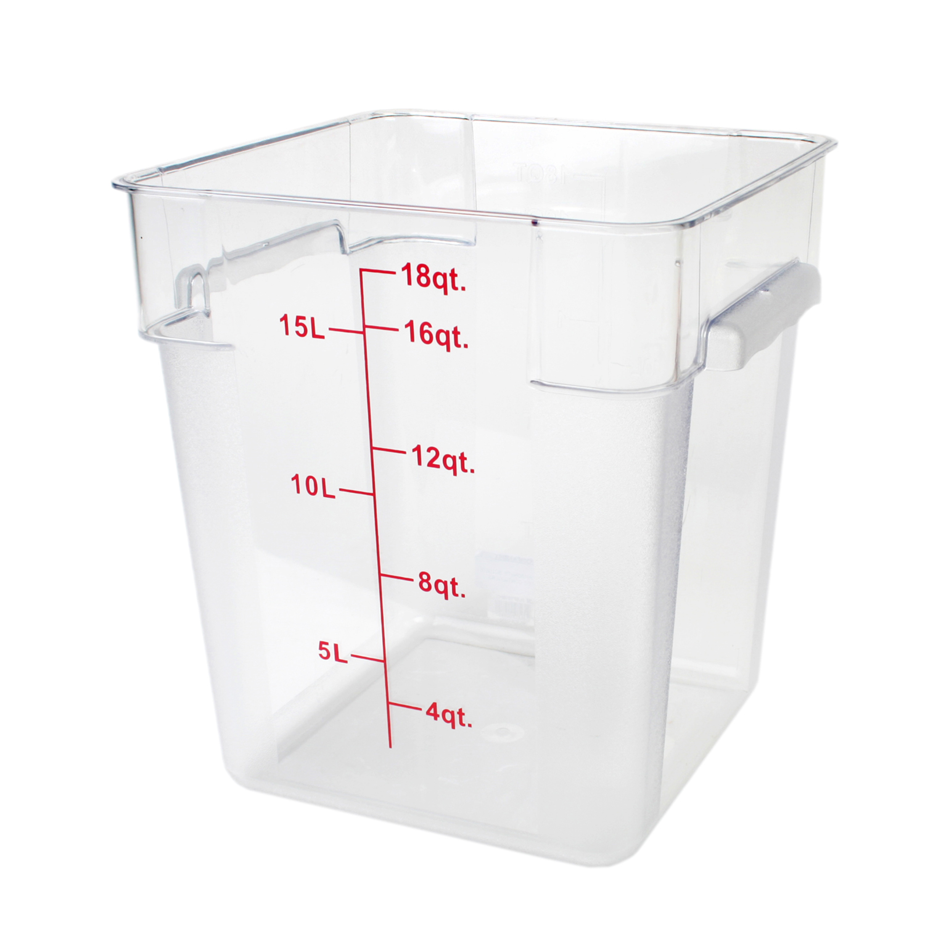 Thunder Group PLSFT018PC food preparation; square food storage container & cover