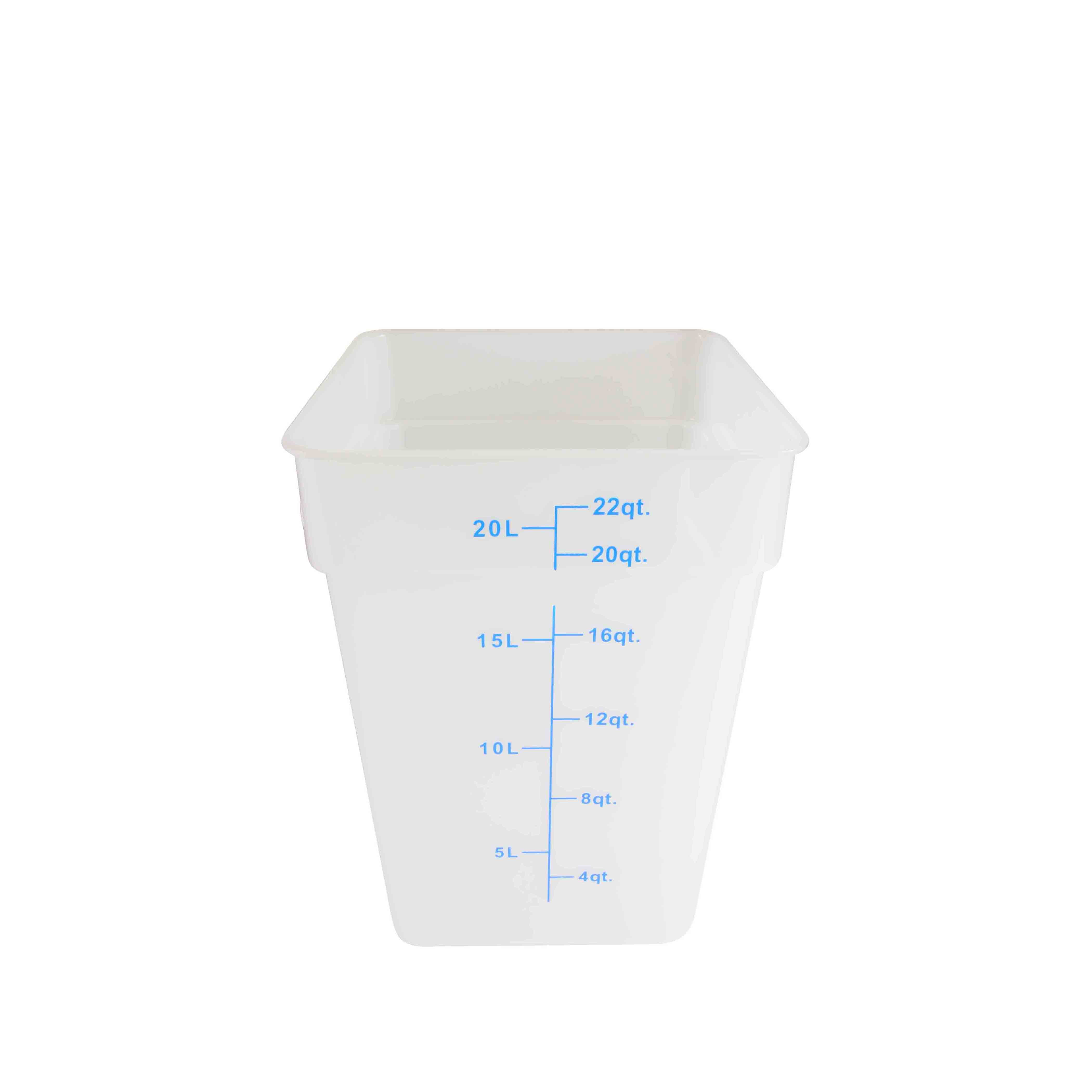 Thunder Group PLSFT022TL food preparation; square food storage container & cover