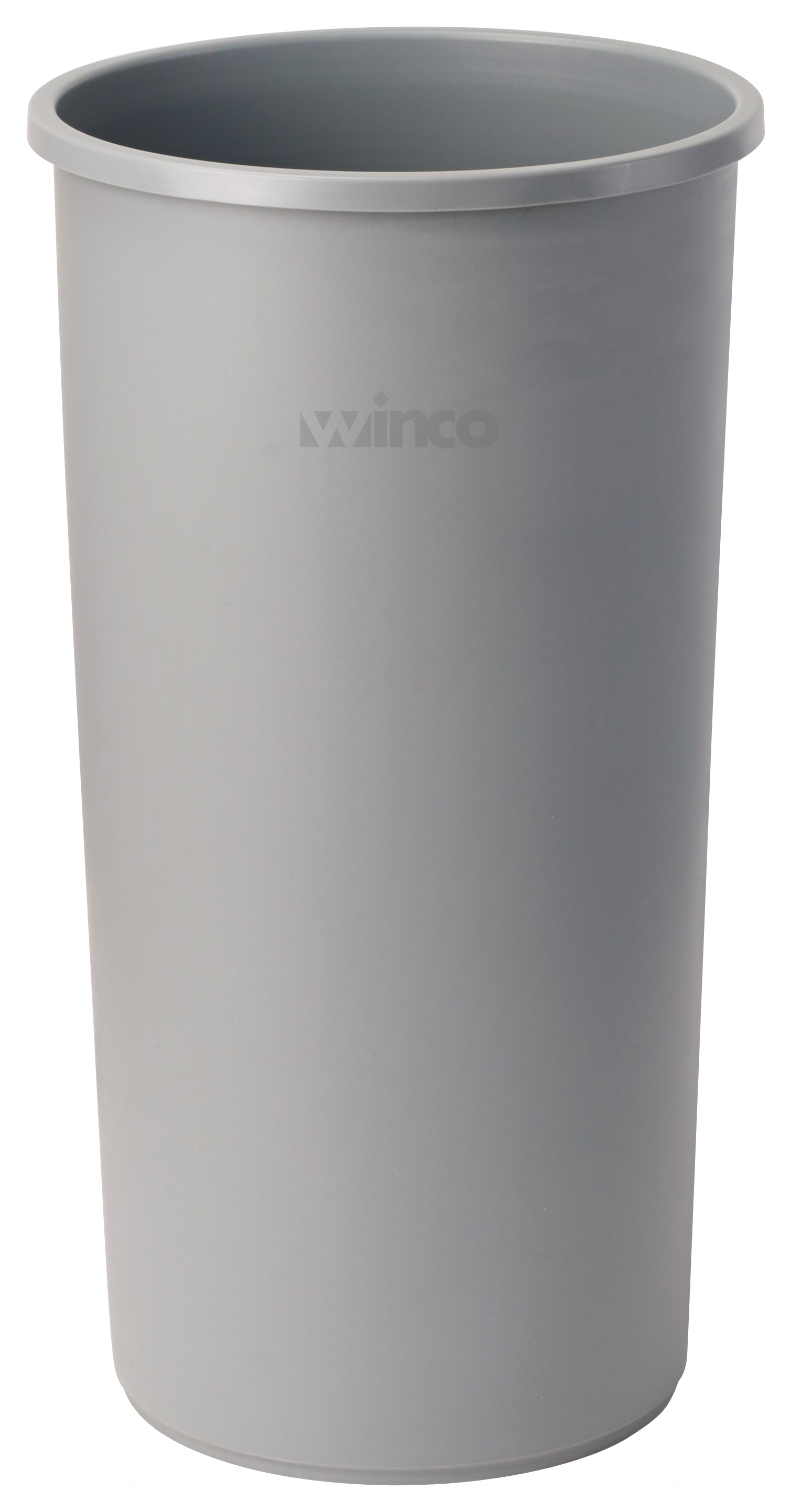 Winco PTCR-22G round tall trash can