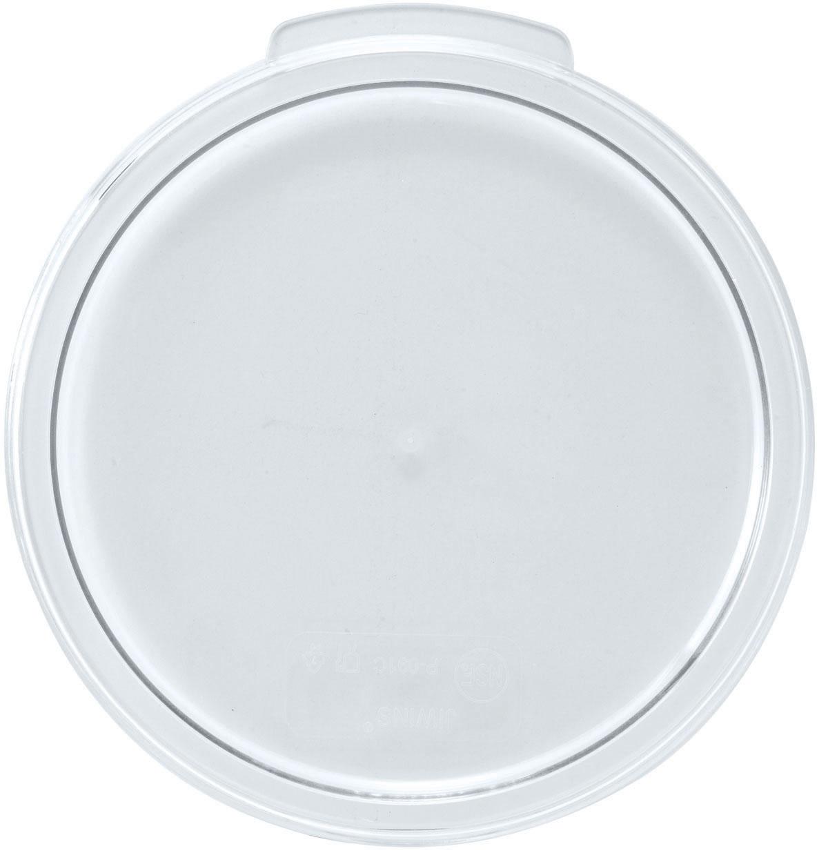 Winco PTRC-12 round food storage containers