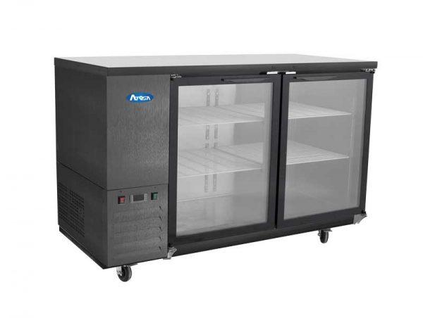 Atosa USA SBB48GGRAUS2 shallow depth glass door back bar coolers