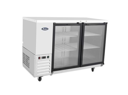Atosa USA SBB59GGRAUS1 shallow depth glass door back bar coolers