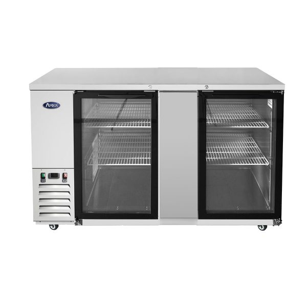 Atosa USA SBB69GGRAUS1 shallow depth glass door back bar coolers
