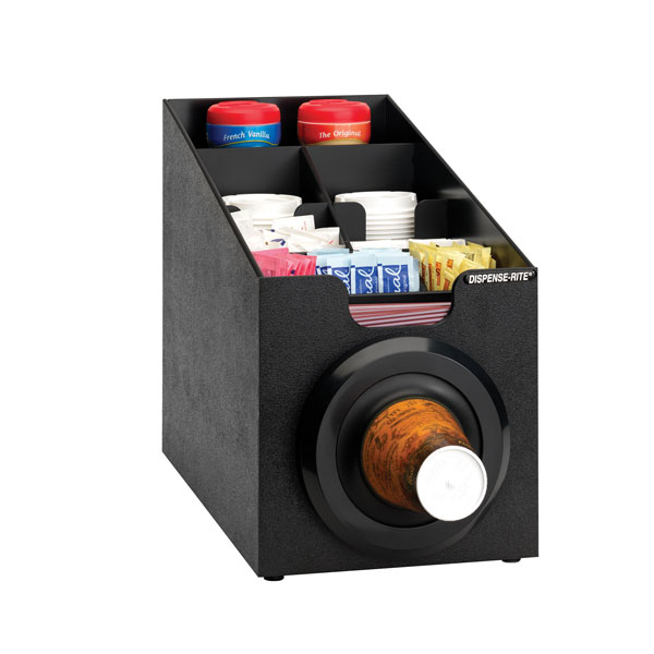 Dispense-Rite SLR-SCL-1BT countertop cup, lid & straw dispensing cabinet