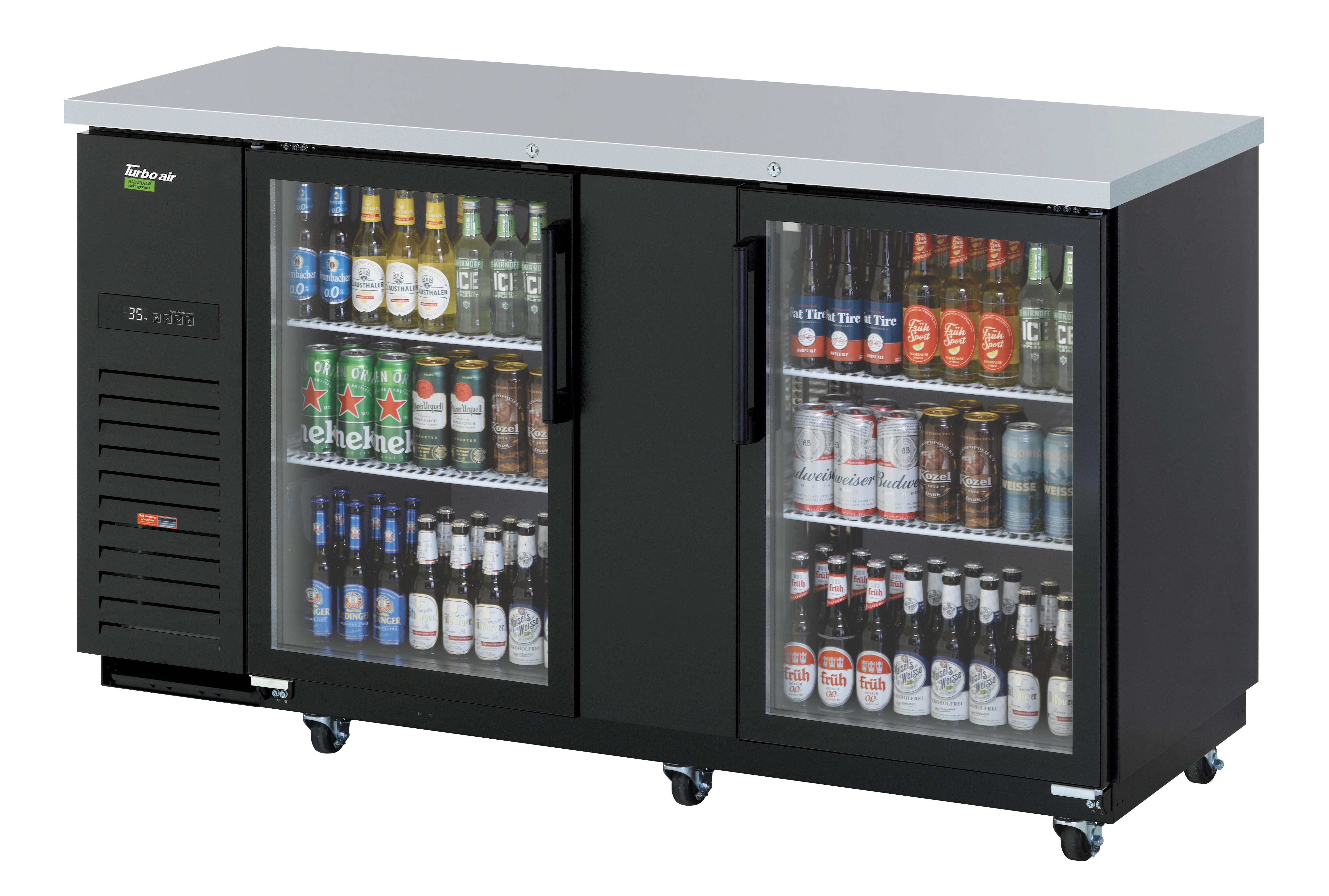Turbo Air TBB-3SGD-N back bar cabinet, refrigerated