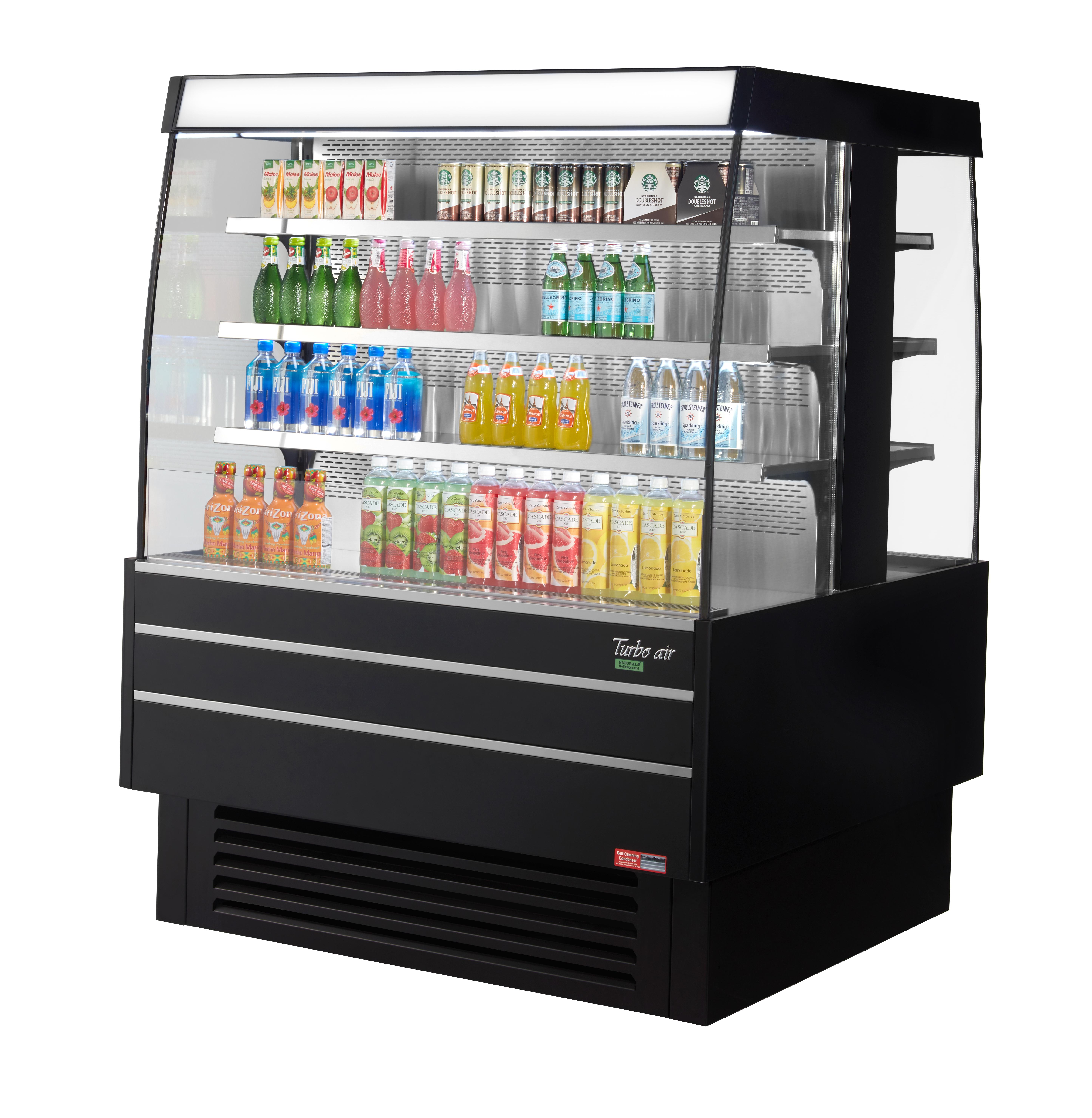 Turbo Air TIOM-48SB-N open island merchandiser; refrigerated