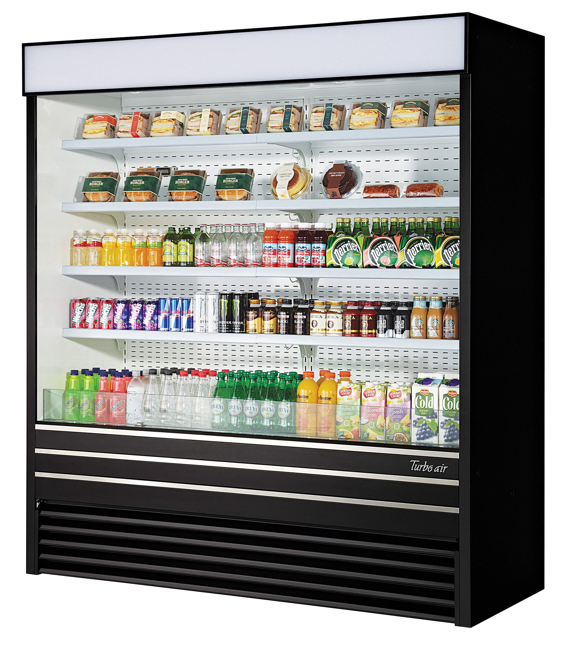 Turbo Air TOM-72EB-N merchandiser, open refrigerated display