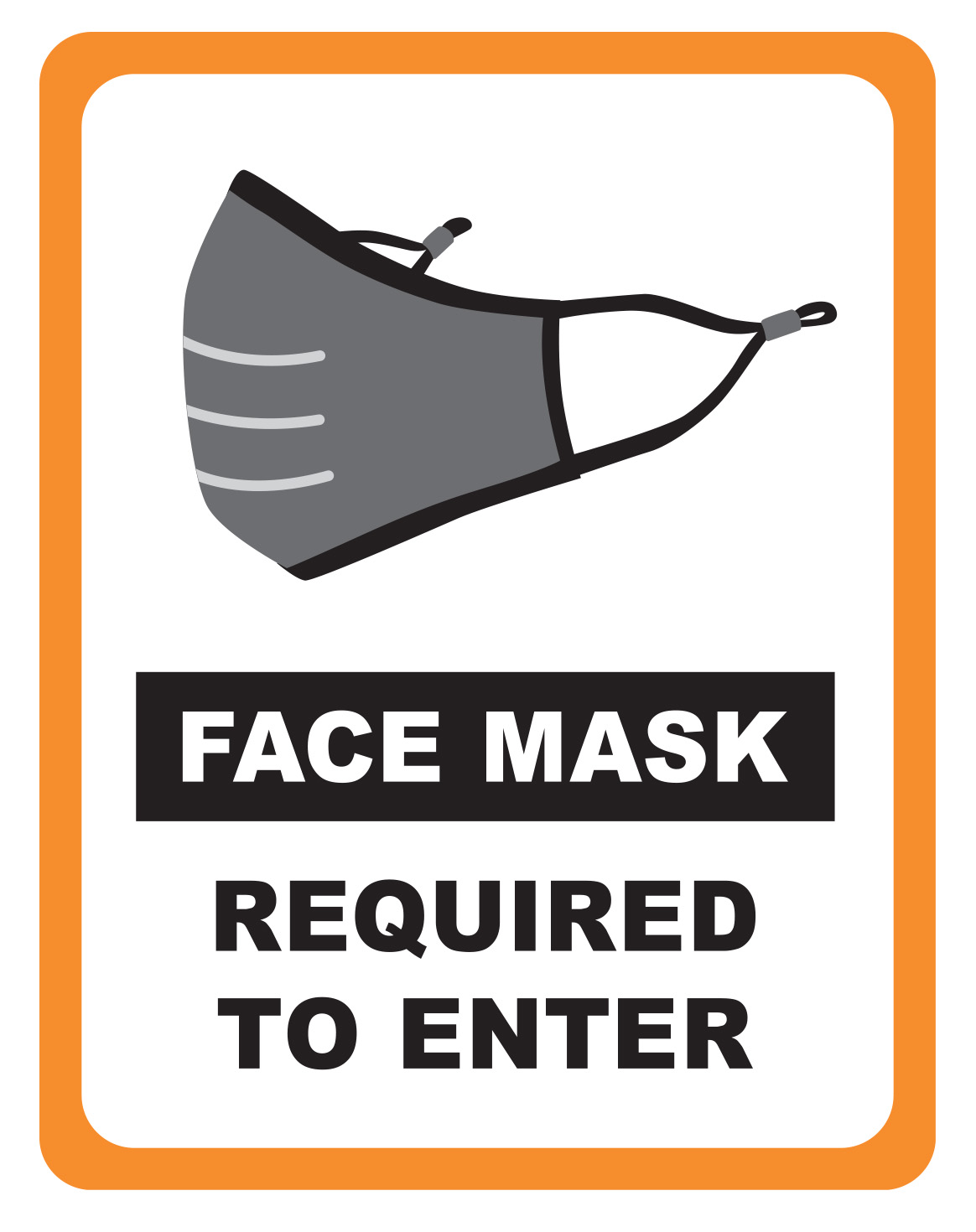 Winco WC-811 face mask required sign