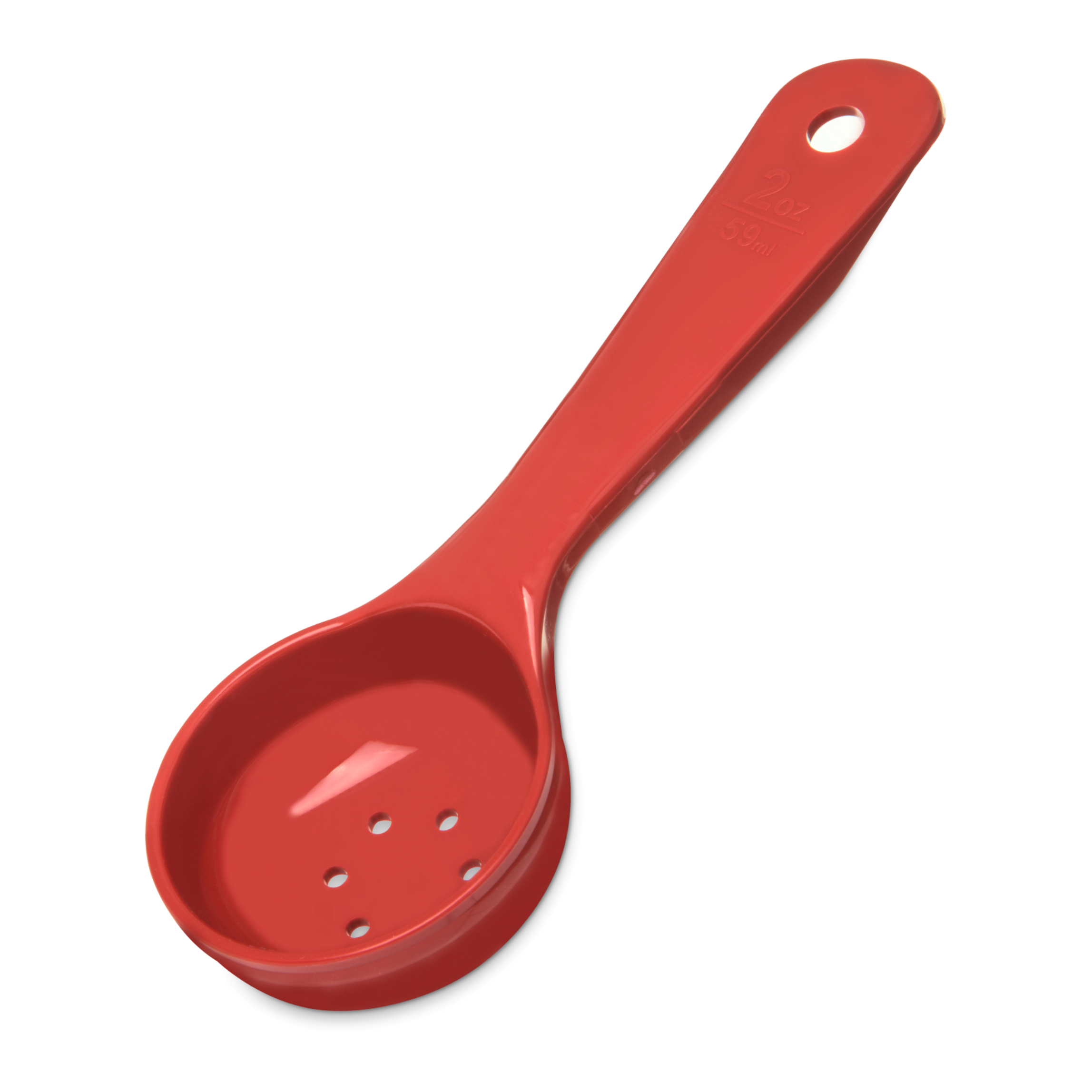 2350-94 Carlisle Spoon, 2oz Perforated Portion Control Red