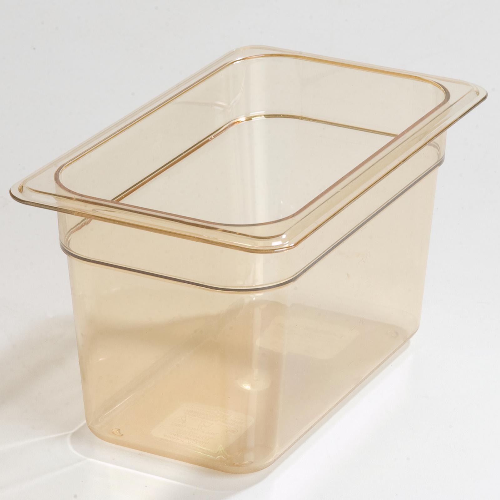 2410-131 Carlisle Food Pan Cover, Hi-Temp Plastic, 1/4size Lid w/handle