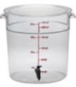 2550-125 Cambro 22qt Round Bev Disp w/spigot & Lid