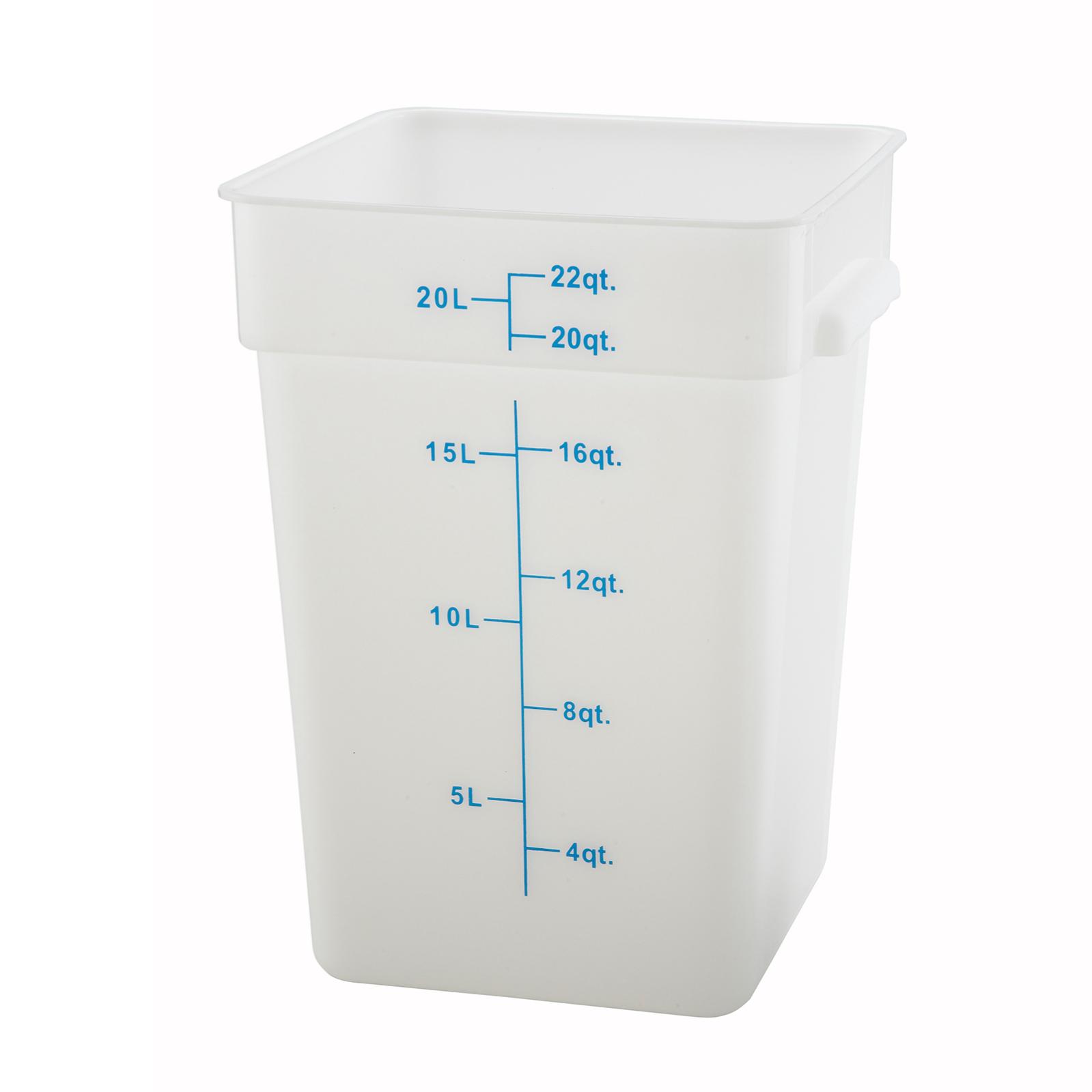 2550-126 Winco Clear Square 22qt Container